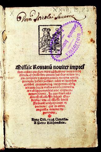 Missale, 1536