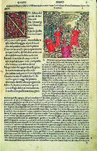 Commento di Cristofofo Landino alla Divina Commedia, 1491