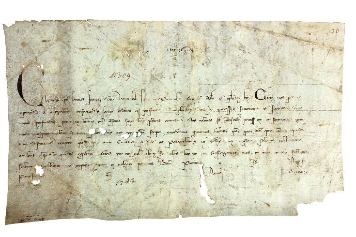 Pergamena di Clemente V, 1308