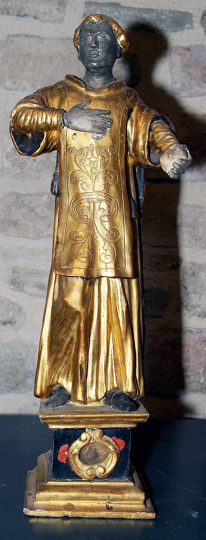 Ambito eugubino sec. XVIII, Reliquiario di Santo Stefano protomartire dans immagini sacre