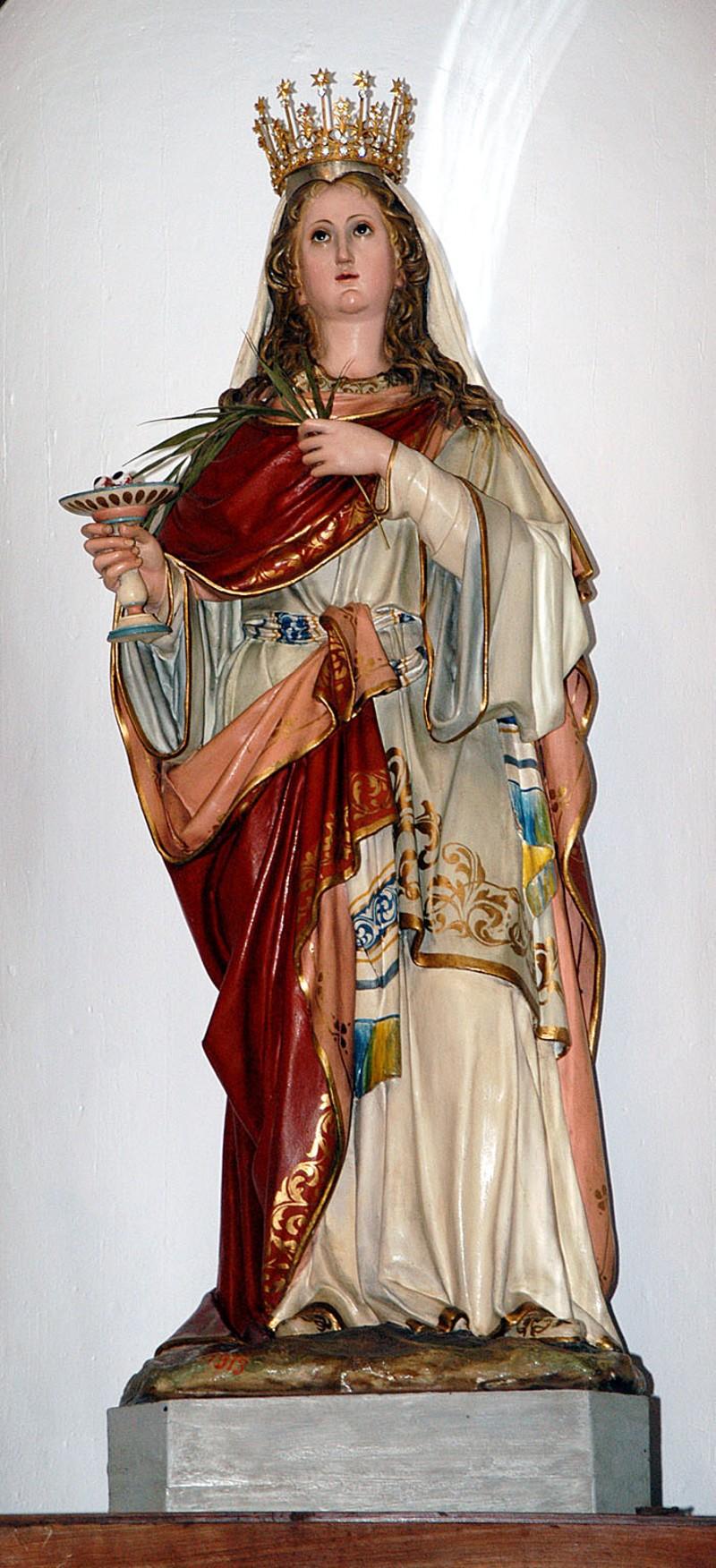 Beweb opera caretta raffaele 1913 santa lucia martire for Cartapesta leccese tecnica