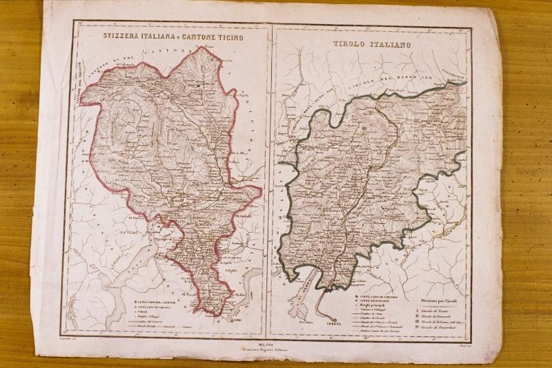 La Cartina Geografica Della Svizzera.Allodi P 1872 Carta Geografica Della Svizzera Italiana E Del Canton Ticino 5407040