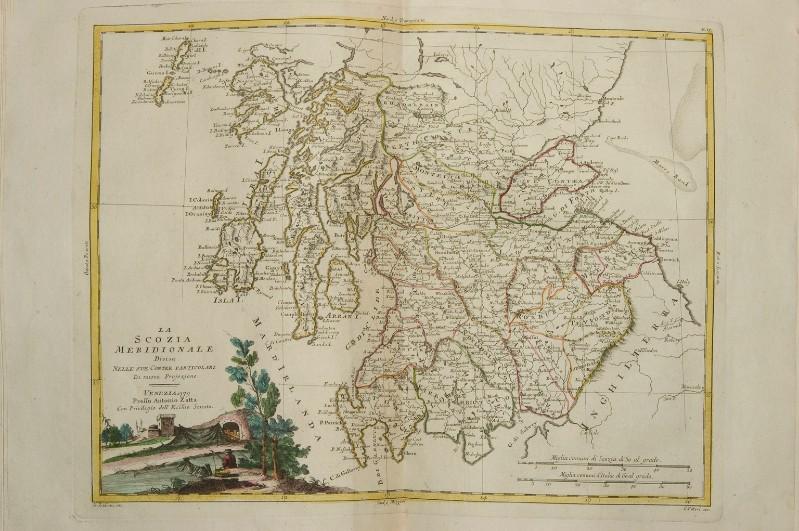 Cartina Stradale Della Scozia.Zuliani G 1779 Carta Geografica Della Scozia Meridionale 6307864
