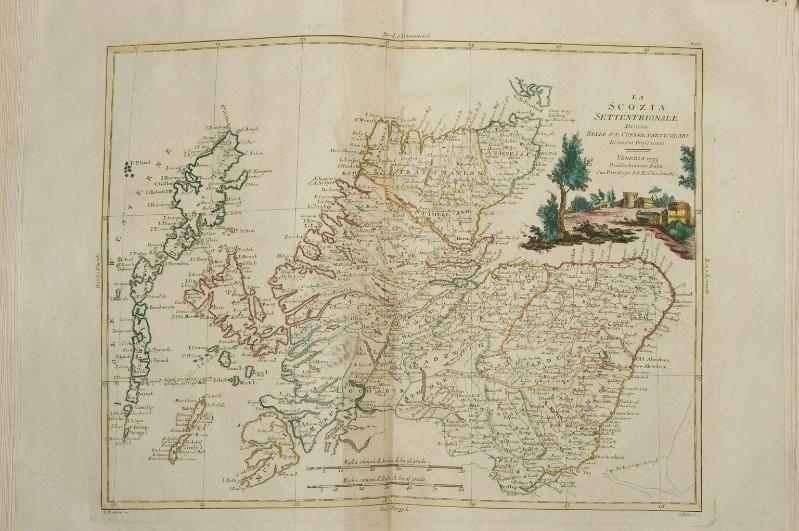Cartina Stradale Della Scozia.Zuliani G 1779 Carta Geografica Della Scozia Settentrionale 6307865