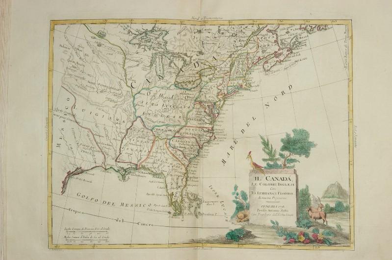 Beweb Kunstwerk Zuliani G 1778 Carta Geografica Del Canada E