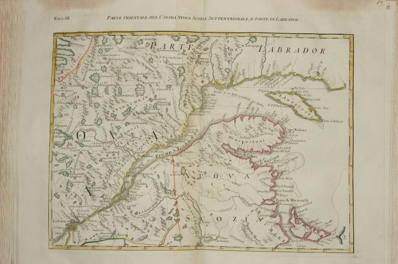 Beweb Opera Zuliani G 1778 Carta Geografica Del Canada