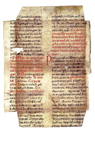 Sacramentario, sec. XII