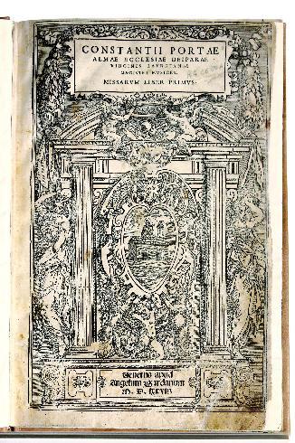 C. Porta, Missarum liber primus, 1578