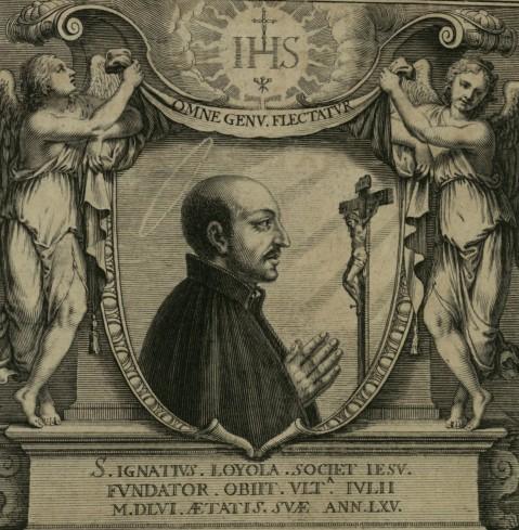 """Ritratto di Sant'ignazio da: """"Exercitia spiritualis S.P. Ignatii Loyola"""" Paris (Typographia Regia) 1644"""