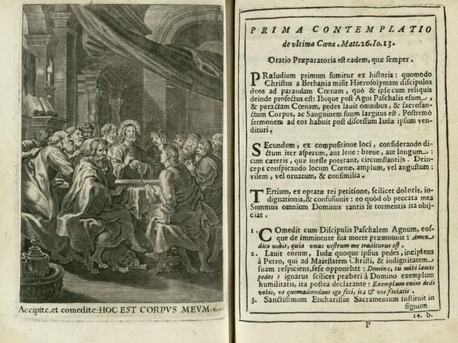 """Accipite et comedite: Hoc est corpus meum. Prima contemplatio de ultima cena. Matteo 26.Io.13"""""""
