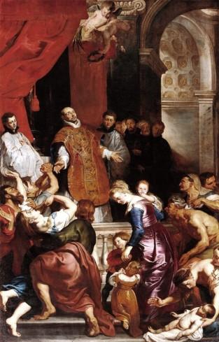 Sant'Ignazio libera un'ossessa.