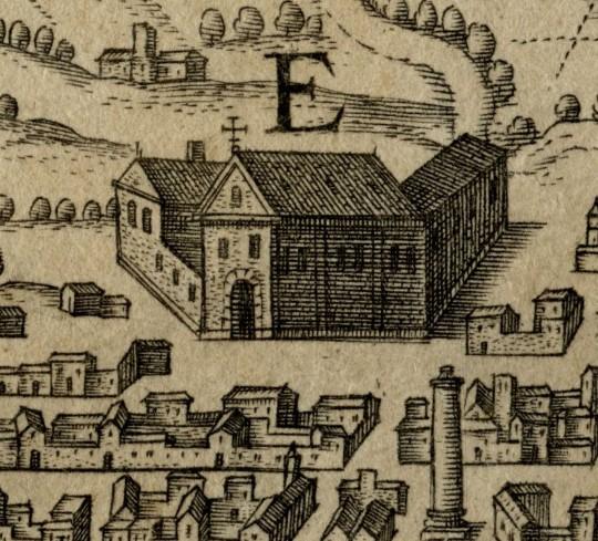 E. Orphanorum atque F. Orphniarum domicilia - E Domicilio degli orfani F domicilio delle orfane E. Domicilio degli orfani