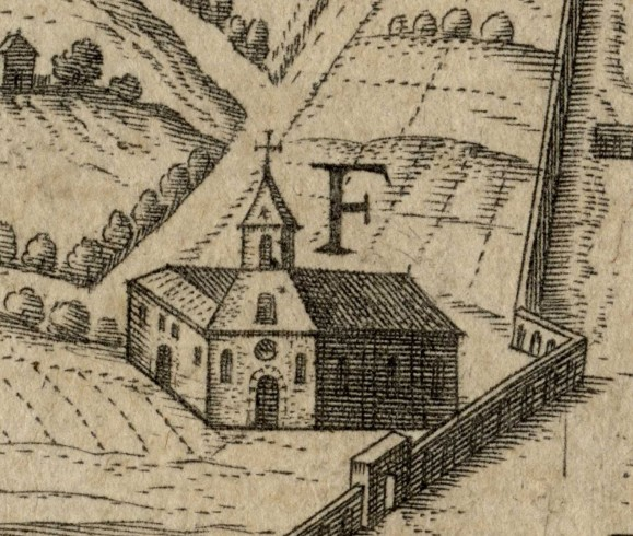 E. Orphanorum atque F. Orphniarum domicilia - E Domicilio degli orfani F domicilio delle orfane F domicilio delle orfane