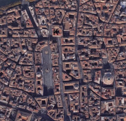 Foto aera della Piazza di Sant'Apollinare. (K) Collegio Germanico