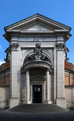 La facciata della Chiesa di sant'Andrea al Quirinale, opera dell'architetto Gian Lorenzo Bernini - 1658