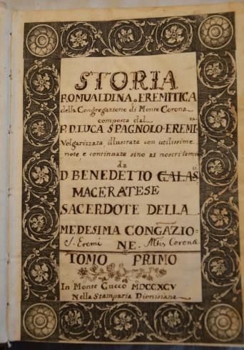 Storia Romualdina trascritta da Don Benedetto Galassi, Tomo primo 1795