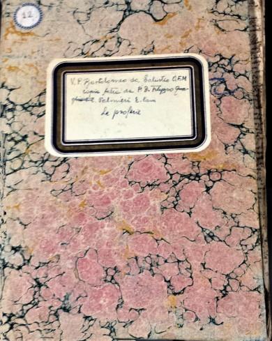 Manoscritto n.12, Don Filippo Palmieri, Le Profezie. ASCM