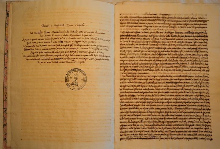 Raccolte di testimonianze scritte da Padre Filippo Palmieri