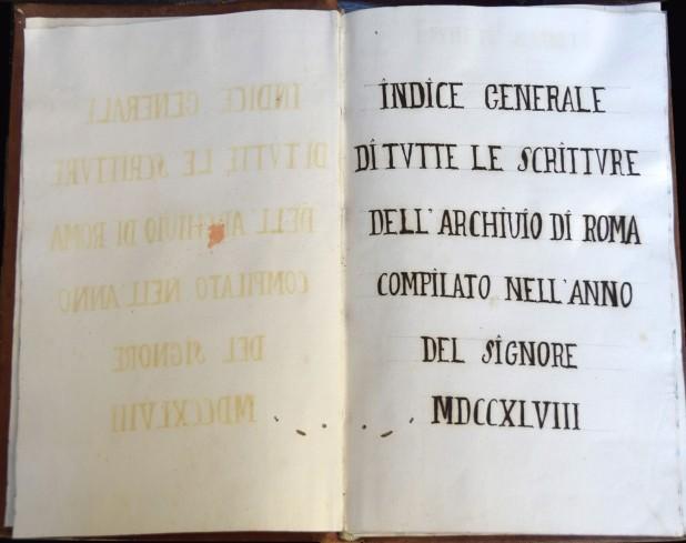 Indice generale di tutte le scritture compilato nell'anno del Signore MDCCXLVIII