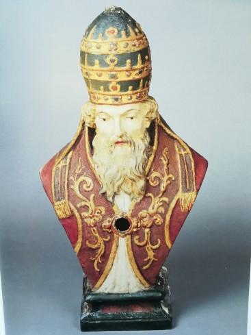 Busto reliquiario di San Silvestro Papa.