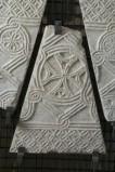 Ambito bizantino secc. X-XI, Frammento di lastra con rosette 2/3