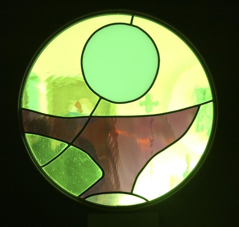 Ruggeri C. sec. XX, Vetrata tonda 1/3