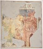 Ambito bergamasco sec. XIV, Santo Vescovo con cinta di mura fortificate