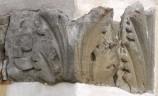 Ambito bergamasco sec. XIV-XV, Capitello in arenaria