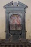 Bottega toscana sec. XVI, Fonte battesimale con cornice architettonica