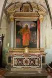 Maestranze toscane sec. XVI, Altare laterale con paliotto dipinto 1/2