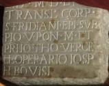 Bott. toscana sec. XVI, Epigrafe quadrangolare in marmo inciso