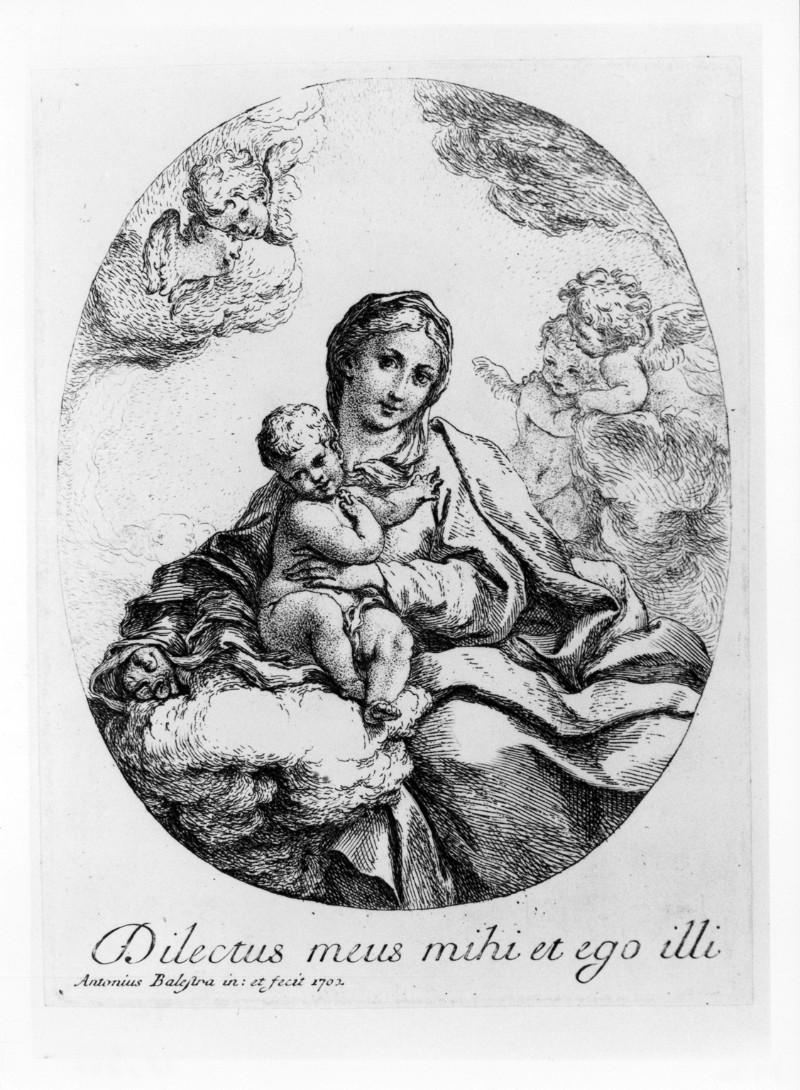 Balestra A. (1702 circa), Madonna con Gesù Bambino e angioletti