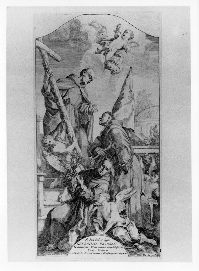 Rotari P. (1725), S. Pietro d'Alcantara e santi francescani
