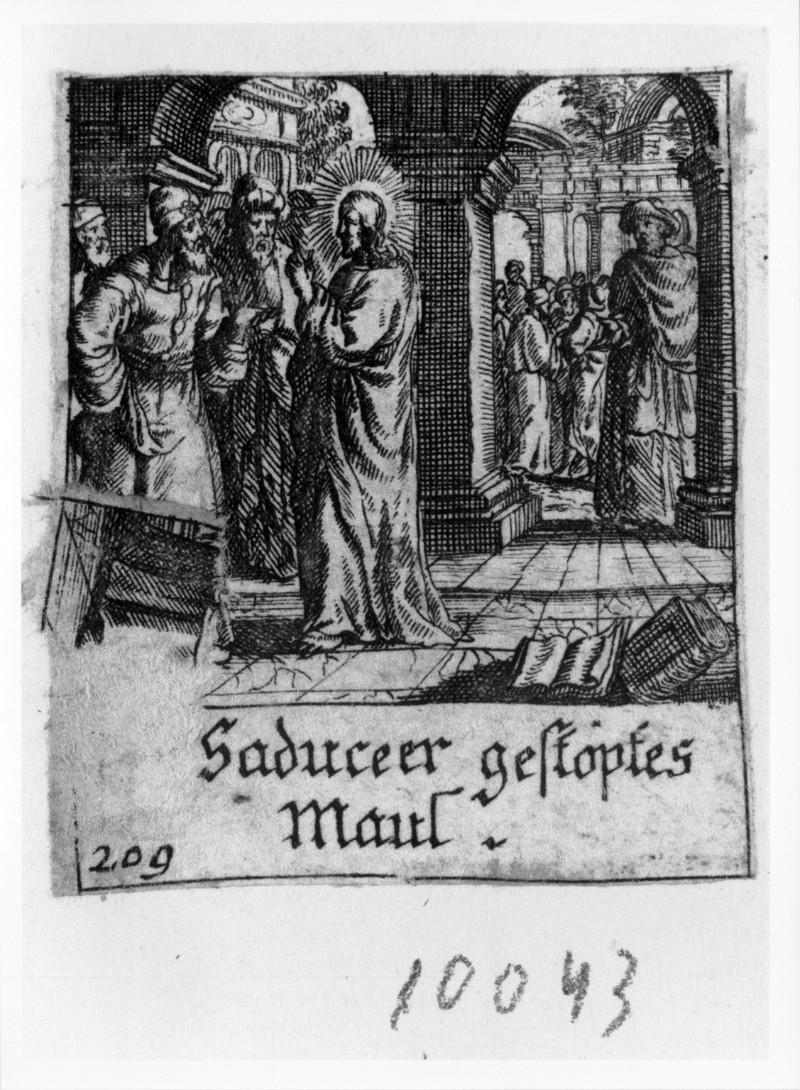 Küsel J. C.-Küsel M. M. (1688-1700), Gesù Cristo interrogato dai Sadducei