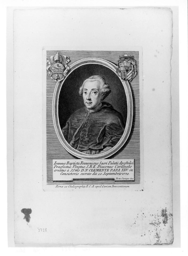 Cunego D. (1770 circa), Ritratto di Giovanni Battista Rezzonico