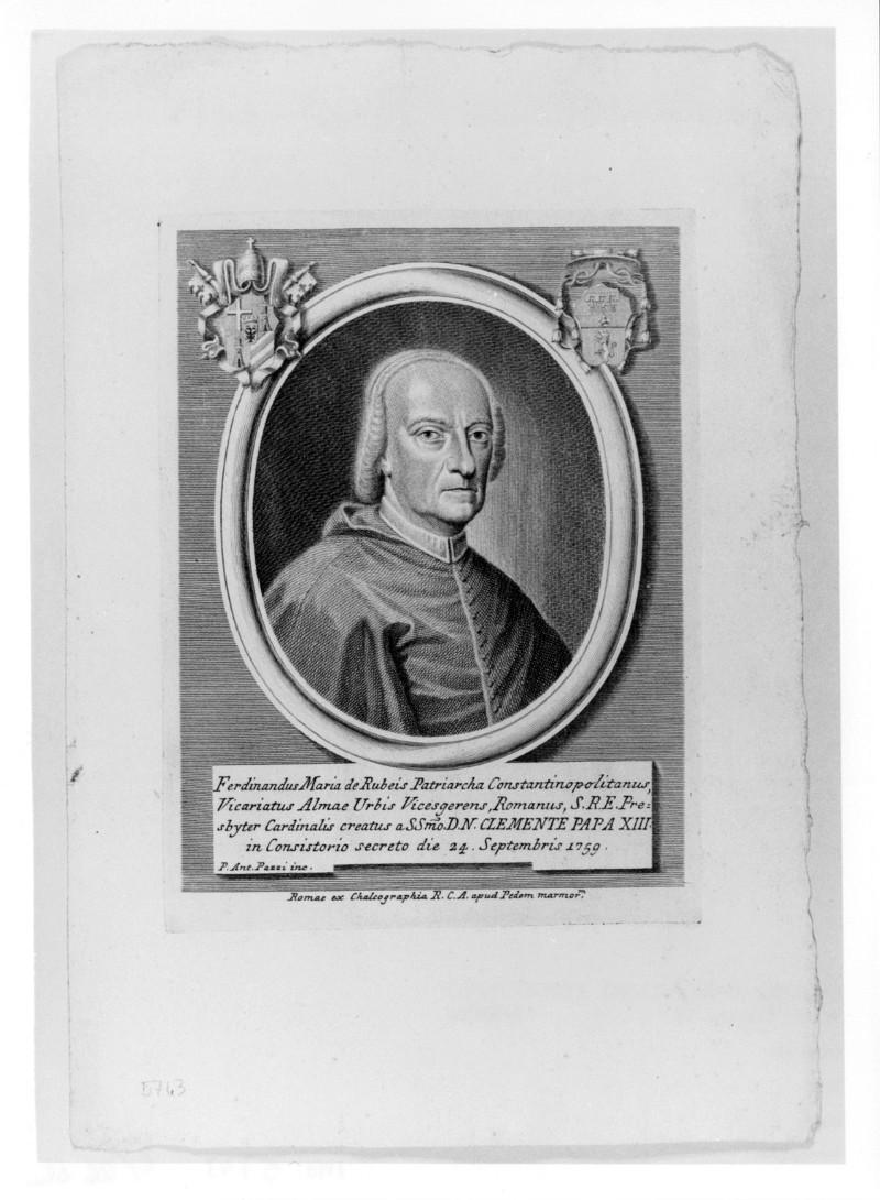 Pazzi P. A. (1759 circa), Ritratto di Ferdinando Maria de' Rossi