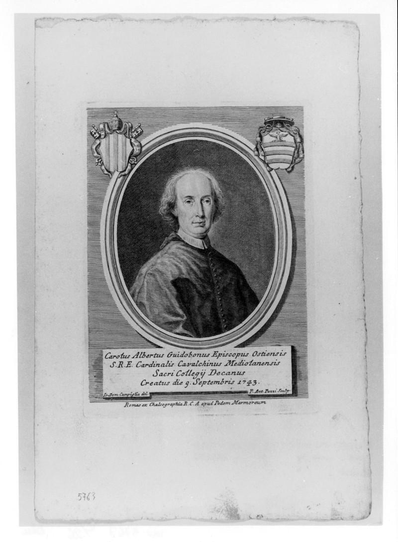 Pazzi P. A. (1743 circa), Ritratto di Carlo Alberto Guidobono Cavalchini