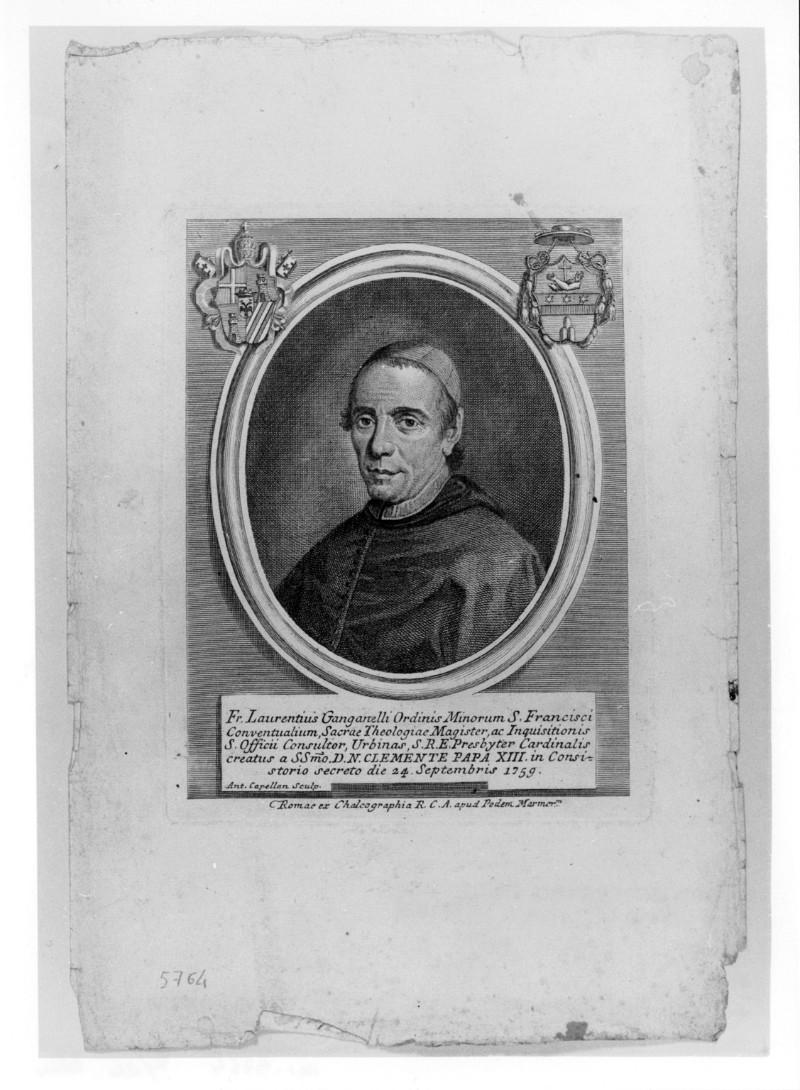 Cappellan A. (1759 circa), Ritratto di Giovanni Vincenzo Antonio Ganganelli