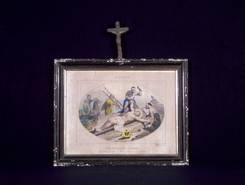 Ambito francese secc. XIX-XX, Gesù inchiodato alla croce