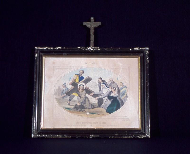 Ambito francese secc. XIX-XX, Gesù incontra Maria sua madre