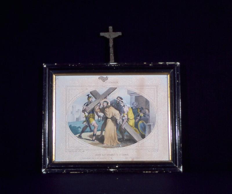 Ambito francese secc. XIX-XX, Gesù caricato della croce