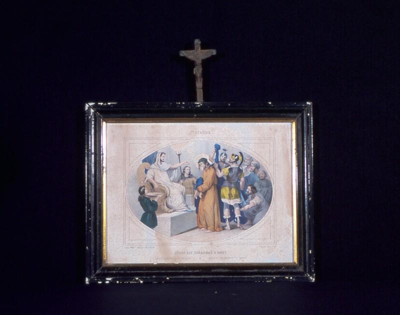 Ambito francese secc. XIX-XX, Gesù condannato a morte da Pilato