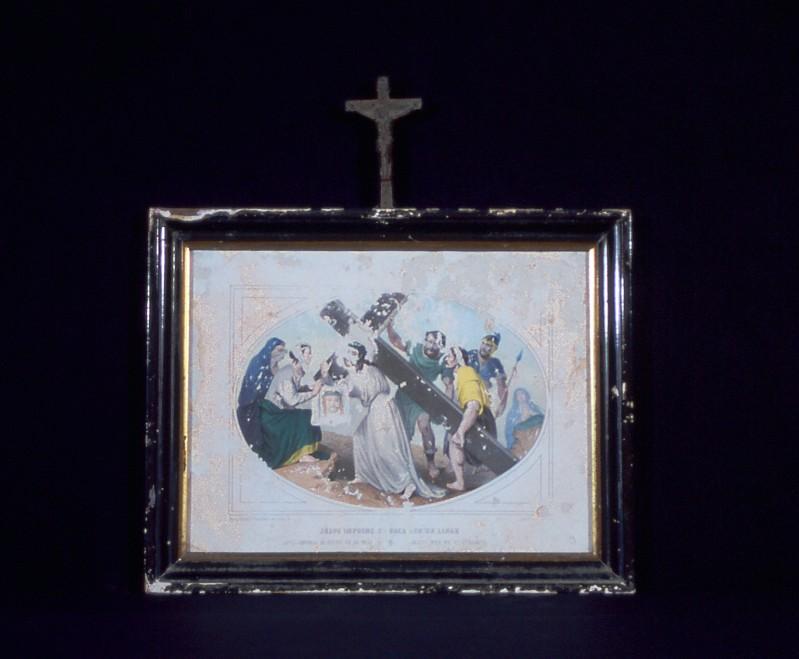 Ambito francese secc. XIX-XX, Gesù incontra la Veronica