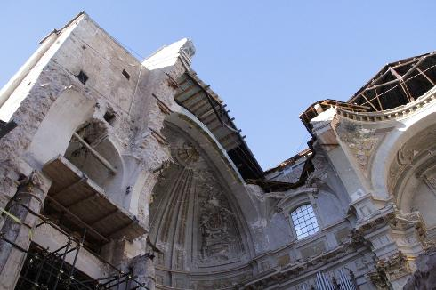 Particolare della cupola vista dall'interno della Cattedrale