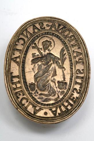 Bottega veneta sec. XVIII, Sigillo con Santa Tecla