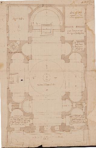 Pianta di Ottaviano Nonni detto il Mascherino (Archivio dell'Accademia di San Luca)