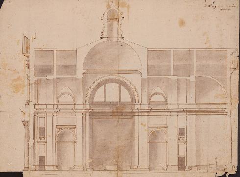 Sezione di Ottaviano Nonni detto il Mascherino (Archivio dell'Accademia di San Luca)
