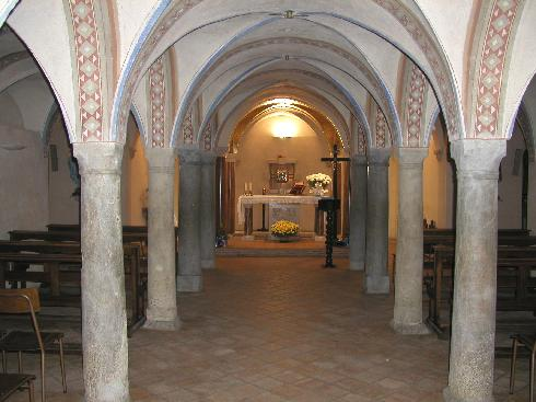 La cripta, cappella feriale