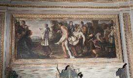 Lucatelli P. sec. XVII, Dipinto del trasporto del corpo di San Lorenzo
