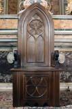 Bott. dell'Italia meridionale sec. XX, Cattedra in legno intagliato